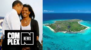 obamas spotted chilling out in the caribbean youtube