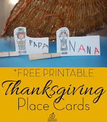 free printable thanksgiving place cards craft for
