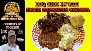 bbq ribs in the elite pressure cooker youtube