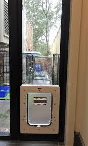 Patio Door Cat Flap by Small Pet Cat Flap U0026 Dog Door For Glass Security Door U0026 Security
