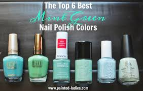 the top 6 best mint green nail polish colors painted ladies