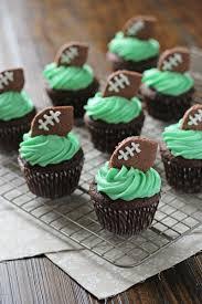 football cupcakes football cupcakes cook nourish bliss