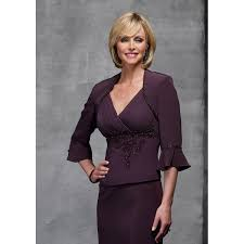 mother of the bride purple dress the groom dresses with