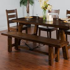 Tuscan Dining Room Table Sunny Designs Tuscany Distressed Mahogany Bench W Turnbuckle