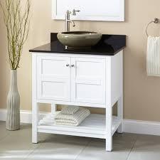 Everett Vessel Sink Vanity White Bathroom Vanities Bathroom - Bathroom vanity for vessel sink