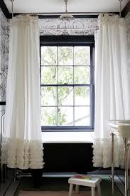 Black Ruffle Shower Curtain Ruffled Shower Curtain Transitional Bathroom Dutch Boy