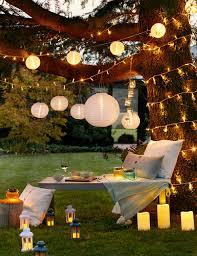String Lights Garden by Garden Lighting Ideas Inspiration Lights4fun Co Uk