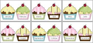 free printable cupcake birthday chart best 25 preschool birthday