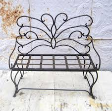 Butterfly Bench Wrought Iron Child U0027s Butterfly Bench Metal Seating