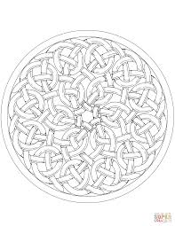 celtic knotwork mandala coloring page free printable coloring pages