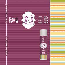 lip balm favors customized bridal shower personalized lip balm stripe pattern