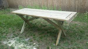 stylish narrow picnic table picnic table with detached benches 9