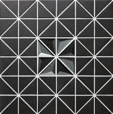 2 u0027 u0027 triangle unglazed black glass mix triangle tile 3d kitchen