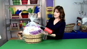 shrink wrap gift paper how to shrink wrap a gift basket
