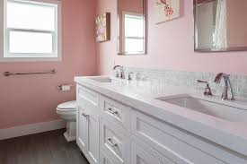 bathroom decor for kids with white wall ideas home bathroom ideas pink girl kids bathroom decor with double sink