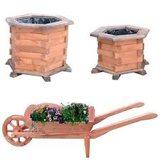 flower pot wooden garden flower tub planter pots plant pot garden