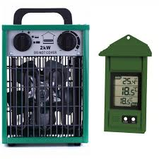 greenhouse thermostat fan control botanico heater 2kw electric greenhouse heater
