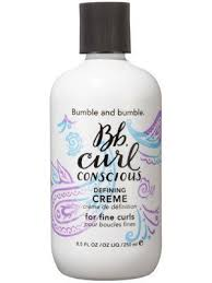 curl enhancers for fine hair amazon com bumble and bumble curl conscious defining creme 8 5oz