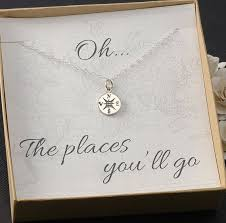 college graduation gift ideas for compass necklace new graduation travel college gift