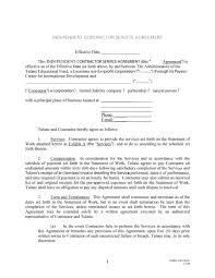 Service Termination Notice Sample by 50 Free Independent Contractor Agreement Forms U0026 Templates