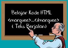 membuat teks berjalan menggunakan html belajar kode html marquee teks berjalan