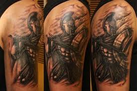 spartan warrior with sword and shield ideas tattoo designs
