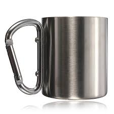 7 5 oz portable cup outdoor camping cup stainless steel coffee mug