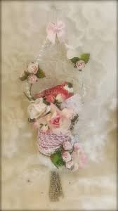 martica designs shabby chic christmas spool ornament