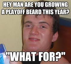Playoff Beard Meme - hey man are you growing a playoff beard this year what for 10