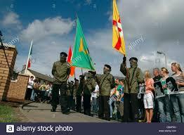 Irish Republican Army Flag Members Of The Irish National Liberation Army Inla At A