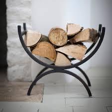 buy garden trading iron log holder amara
