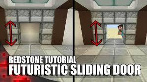 Futuristic Doors by Minecraft Futuristic Sliding Door Youtube