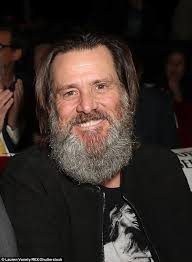 jim carrey shows off his bushy beard at la film premiere daily