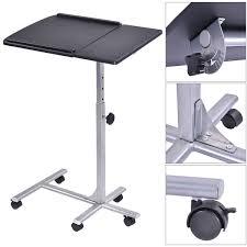 adjustable angle u0026 height rolling laptop table desks office