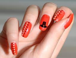 orange nails hat thanksgiving nail creative