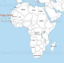 cape verde map world africa map cape verde africa map