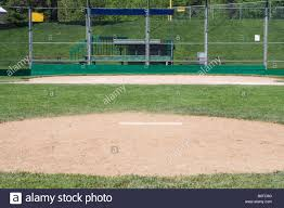 home plate from pitcher u0027s mound stock photo royalty free image
