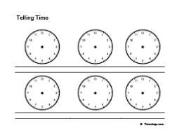 9 telling time practice worksheets freeology