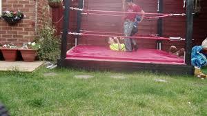 backyard wrestling ring for sale cheap backyard wrestling in real ring train match youtube