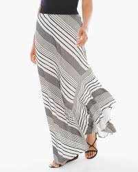 stripe high low maxi skirt chicos