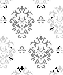 ornament damask stencil