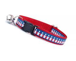 Blue White Red White Blue Flag Cat Collar