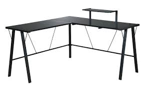 top style black l shaped desk black l shaped desk with glass