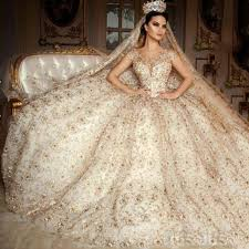 wedding dress sle sale nyc saudi arabia scoop wedding dress cap sleeve lace beaded gold