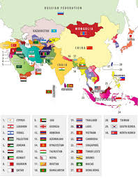 Map Quiz Of Asia by Map Of Asian Countries With Flags Where To Travel In Asia