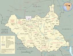 Africa Map Rivers Map Of South Sudan Africa