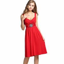 online get cheap red spaghetti strap skater dress aliexpress com