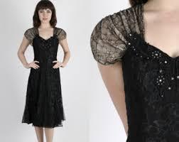 black lace dress etsy