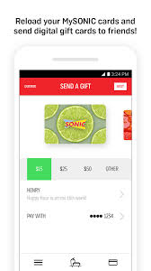 sonic gift cards sonic drive in app ranking and store data app