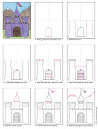 How To Draw A Flag Draw A Midieval Castle Art Projects For Kids